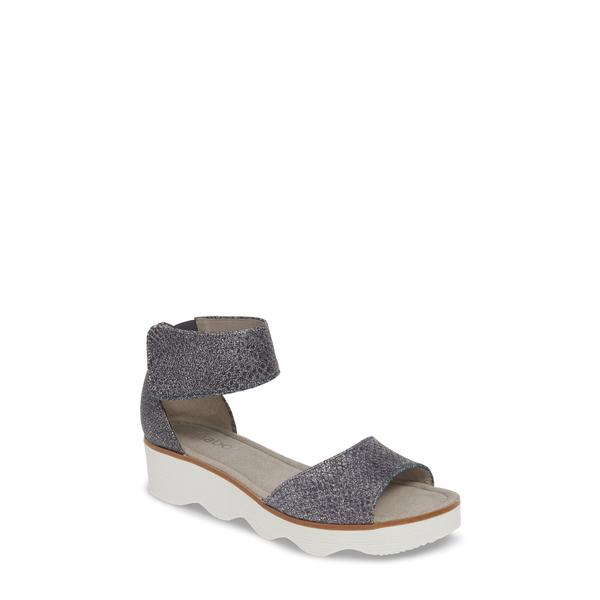 ガボール レディース サンダル シューズ Wedge Sandal Blue Textured Leather