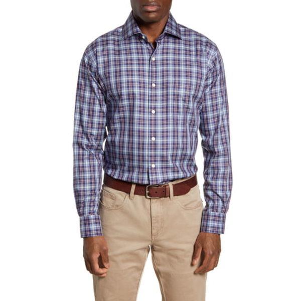 ピーター・ミラー メンズ シャツ トップス Crown Soft Regular Fit Crestline Plaid Button-Up Shirt Blackberry