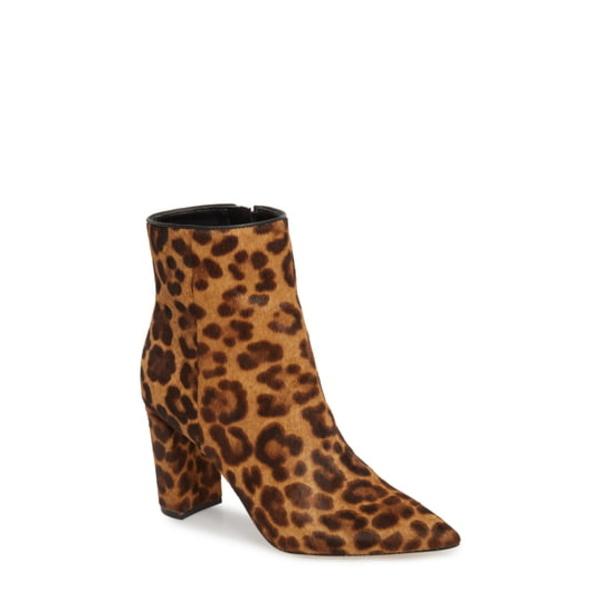 マーク・フィッシャー レディース ブーツ&レインブーツ シューズ Ulanily Pointy Toe Bootie Leopard Calf Hair