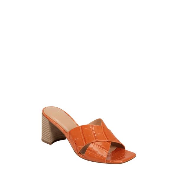 マーク・フィッシャー レディース サンダル シューズ Saydi Slide Sandal Orange Croc Embossed Print