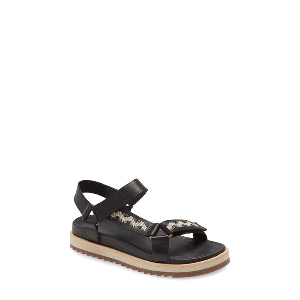 メレル レディース サンダル シューズ Juno Strap Sandal Black Leather