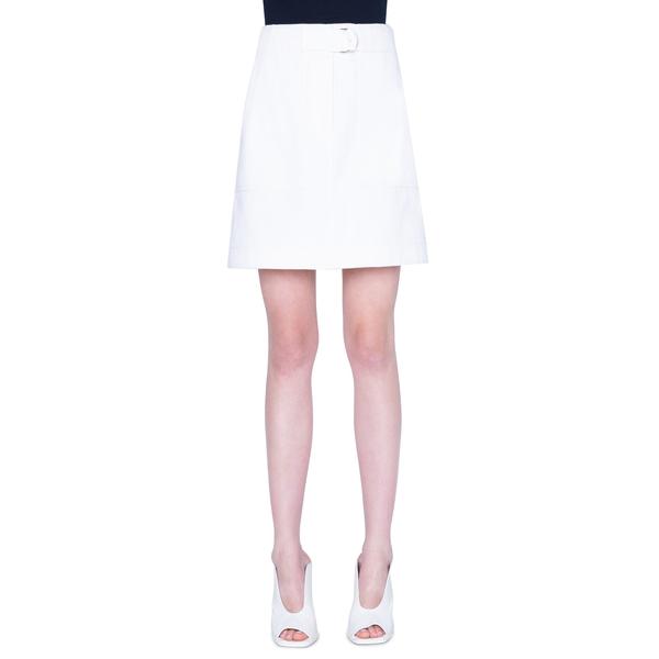 アクリス プント レディース スカート ボトムス Stretch Cotton Cargo Skirt Cream