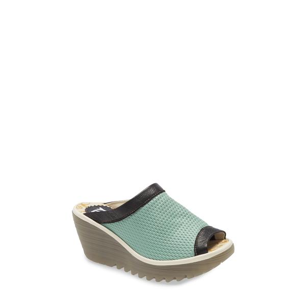 フライロンドン レディース サンダル シューズ Yeno Wedge Slide Sandal Blue/Green
