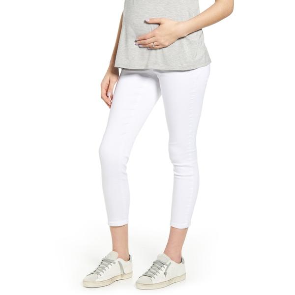 1822デニム レディース デニムパンツ ボトムス Ankle Super Skinny Maternity Jeans White