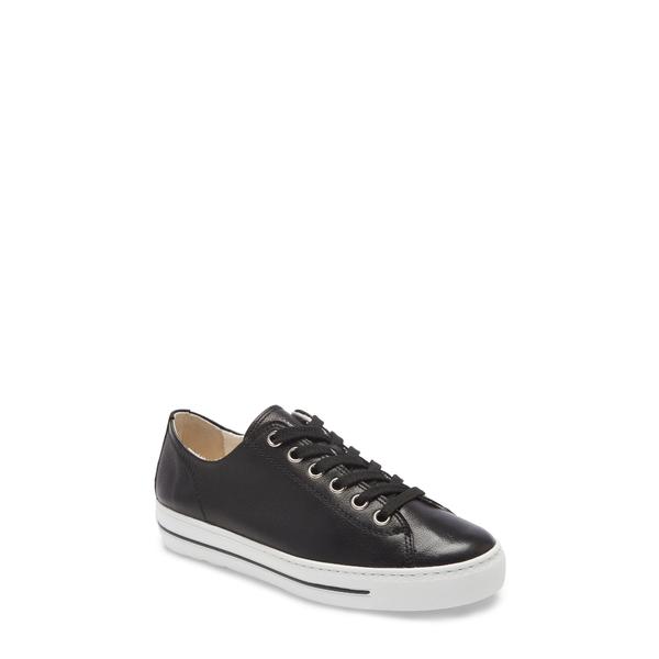 ポール・グリーン レディース スニーカー シューズ Ally Low Top Sneaker Black Leather