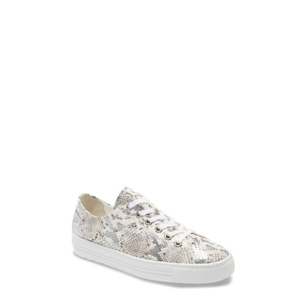 ポール・グリーン レディース スニーカー シューズ Ally Low Top Sneaker Silver/ Pebble Snake Print