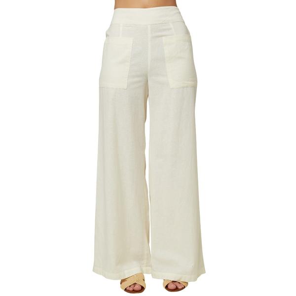 オニール レディース カジュアルパンツ ボトムス La Playa Wide Leg Pants Winter White