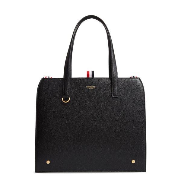 トムブラウン レディース ショルダーバッグ バッグ Mrs. Thom Calfskin Leather Shoulder Bag Black