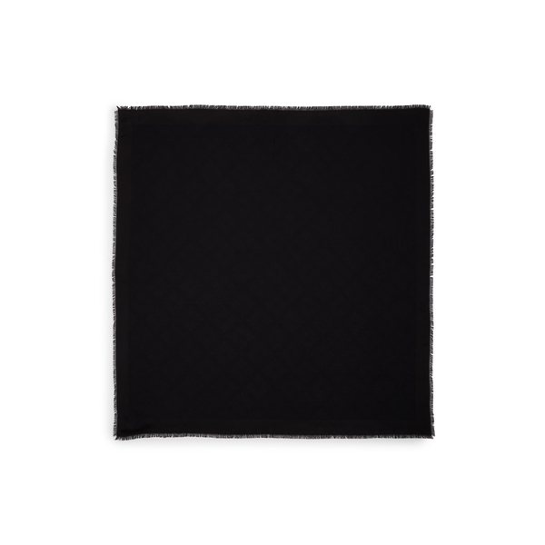 マルベリー レディース マフラー・ストール・スカーフ アクセサリー Tree Silk & Cotton Scarf Black