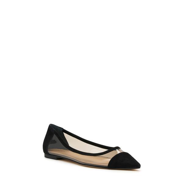 ボトキエ レディース サンダル シューズ Annie Pointed Toe Flat Black Faux Leather