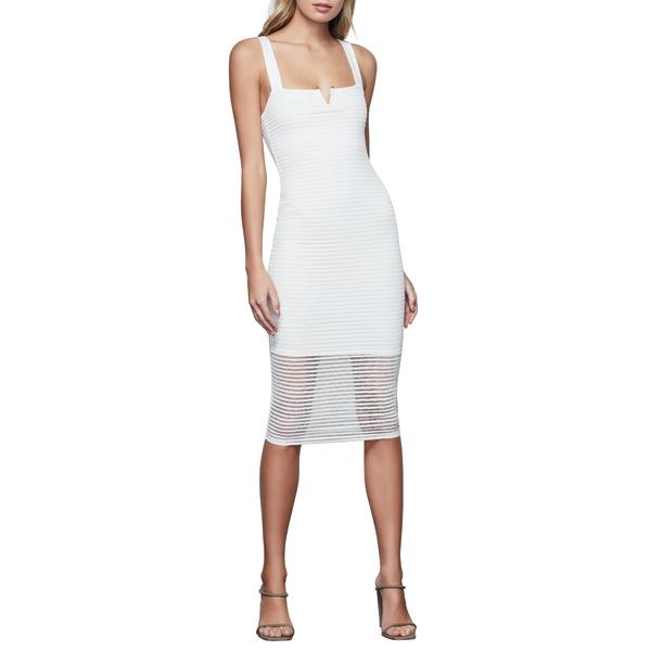 グッドアメリカン レディース ワンピース トップス Sleeveless Sheer Smocked Midi Dress Ivory
