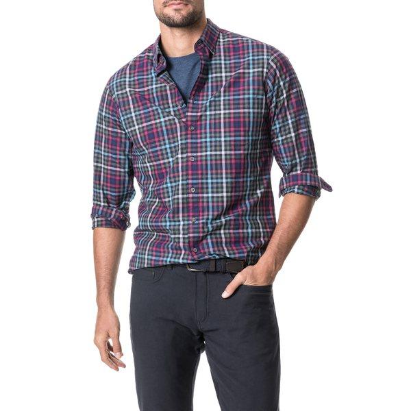 ロッドアンドグン メンズ シャツ トップス Regular Fit Plaid Button-Up Shirt Geranium