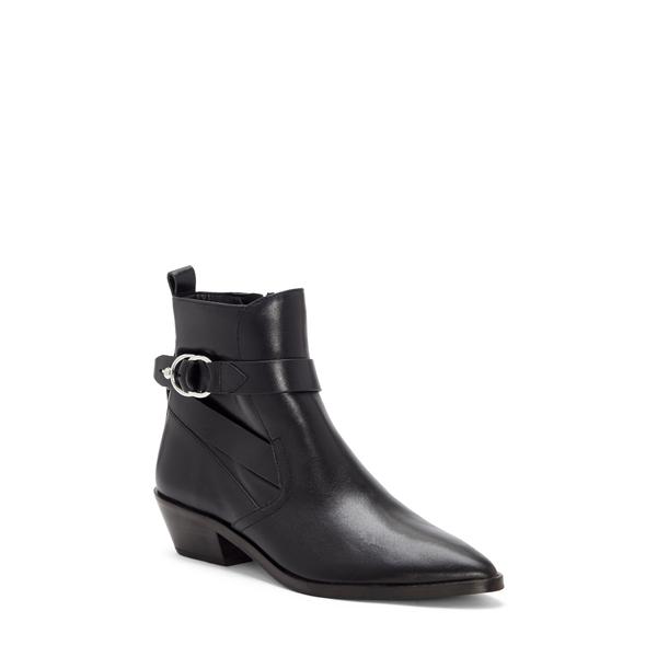 レベッカミンコフ レディース ブーツ&レインブーツ シューズ Kichi Pointed Toe Bootie Black Leather
