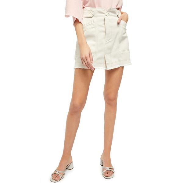 フリーピープル レディース スカート ボトムス Alpha Utility Miniskirt Salt
