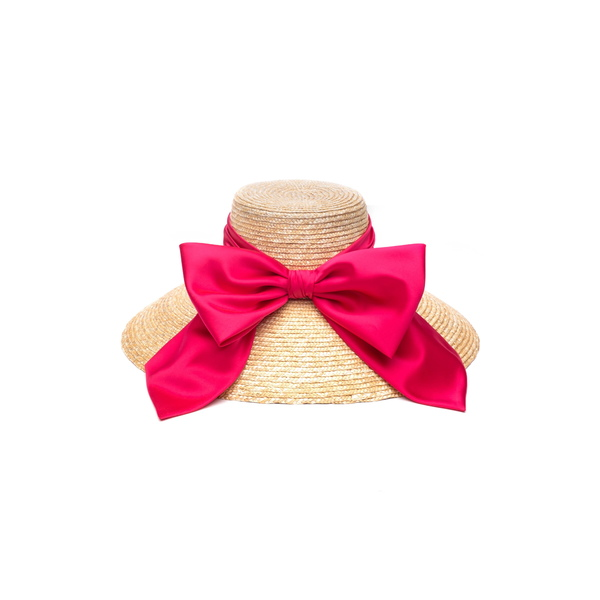 ユージニアキム レディース ヘアアクセサリー アクセサリー Mirabel Straw Hat Natural/ Pink