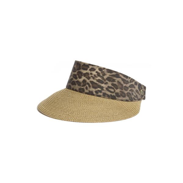 エリックジャヴィッツ レディース ヘアアクセサリー アクセサリー 'Squishee ョ Champ' Custom Fit Visor Natural/ Leopard