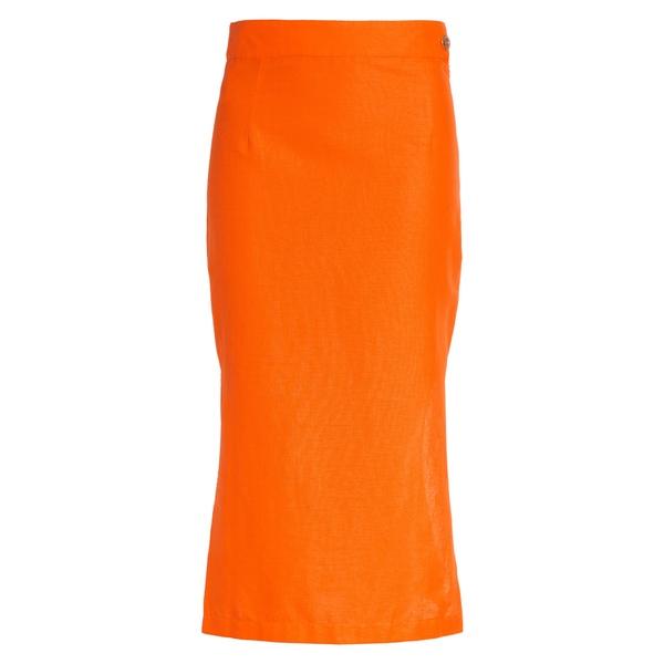 サイモンミラー レディース スカート ボトムス Prado Cotton & Linen Midi Skirt Tangerine