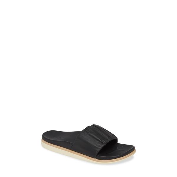 オルカイ レディース サンダル シューズ Pihapiha Slide Sandal Black Leather