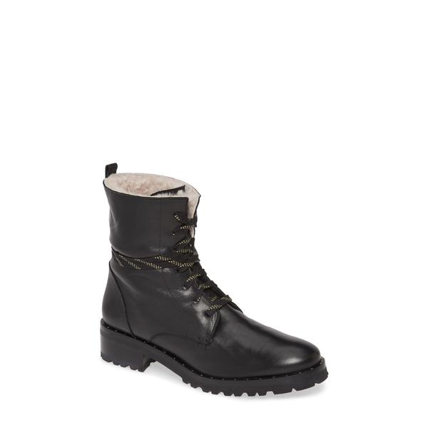 フレダサルバドール レディース ブーツ&レインブーツ シューズ Genuine Shearling Lined Hiker Boot Black