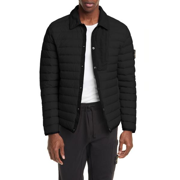 ストーンアイランド メンズ ジャケット&ブルゾン アウター Quilted Down Jacket Black