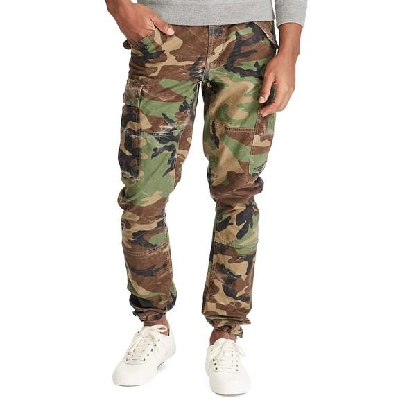 ラルフローレン メンズ カジュアルパンツ ボトムス Slim-Fit Camo Cargo Cotton Pants Surplus Camo
