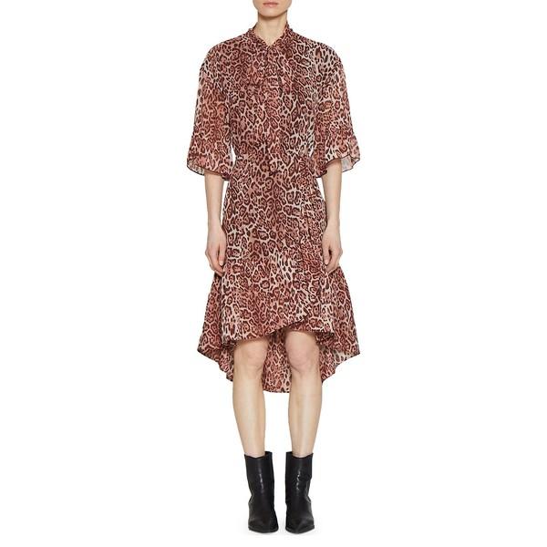 ウォルターベーカー レディース ワンピース トップス Tie-Collar Leopard-Print Tie-Collar Lucien トップス Dress Dress Dusty Leopard, 月形町:1cea2553 --- officewill.xsrv.jp