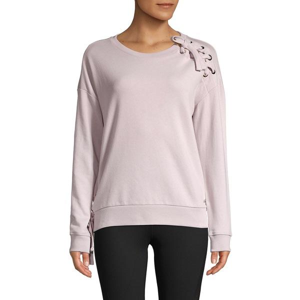 マークニューヨーク レディース パーカー・スウェットシャツ アウター Lace-Up Sweatshirt Shy Violet
