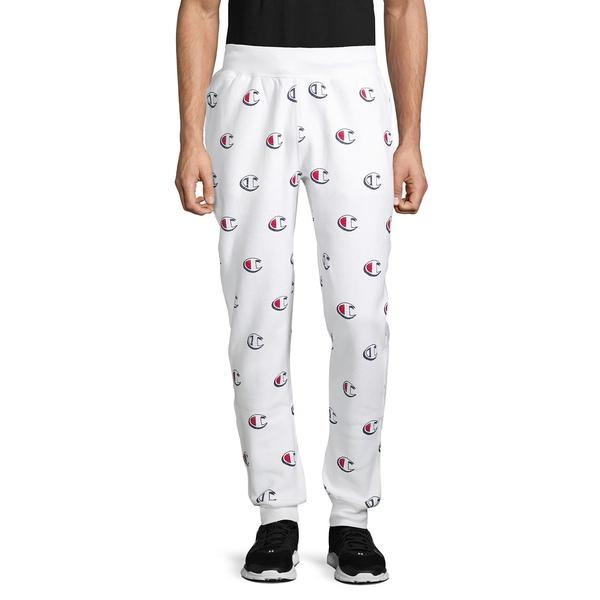 チャンピオン メンズ カジュアルパンツ ボトムス Printed Reverse Weave Jogger Pants Scribble White