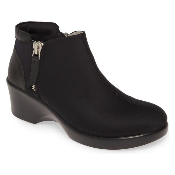 アレグリア レディース ブーツ&レインブーツ シューズ Alegria Sloan Bootie (Women) Black Leather