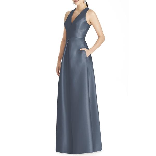 アルフレッド レディース アルフレッド ワンピース トップス Alfred Sung Sleeveless Sateen Alfred Gown Gown Silverstone, meidentsu shop:d4f29d20 --- officewill.xsrv.jp