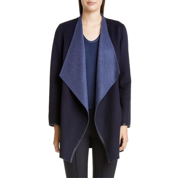 ラファイエットワンフォーエイト レディース ジャケット&ブルゾン アウター Lafayette 148 New York Valasca Reversible Wool & Cashmere Jacket Marine Blue/ Denim