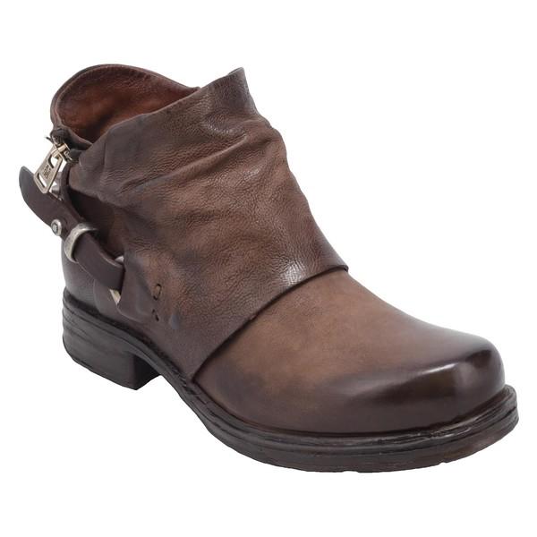 エーエス98 レディース ブーツ&レインブーツ シューズ A.S.98 Steve Bootie (Women) Chocolate Leather