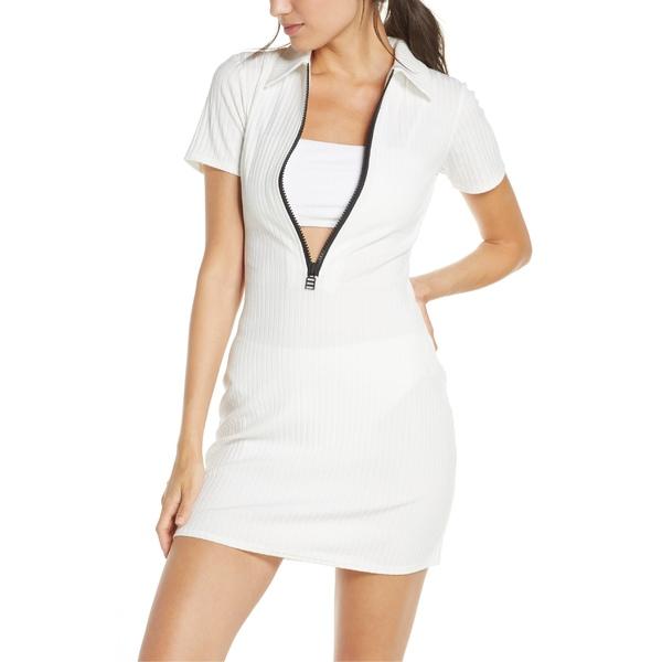 ソリッド アンド ストライプ レディース ワンピース トップス Solid & Striped The Polo Cover-Up Dress White Rib