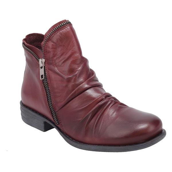 ミズムーズ レディース ブーツ&レインブーツ シューズ Miz Mooz 'Luna' Ankle Boot (Women) Wine Leather