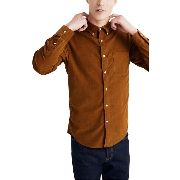 メイドウェル メンズ シャツ トップス Madewell Corduroy Button-Down Shirt Egyptian Gold