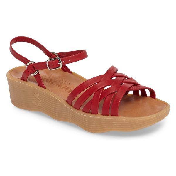 ファモレア レディース サンダル シューズ Famolare Strappy Camper Sandal (Women) Red Leather