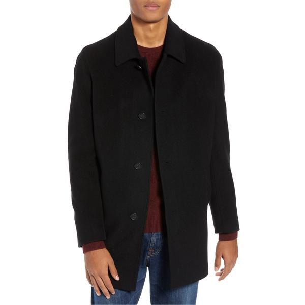 コールハーン メンズ ジャケット&ブルゾン アウター Cole Haan Italian Wool Blend Overcoat Black