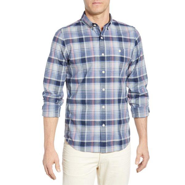 ヴァインヤードヴァインズ メンズ シャツ トップス vineyard vines Tucker Slim Fit Plaid Shirt Moonshine