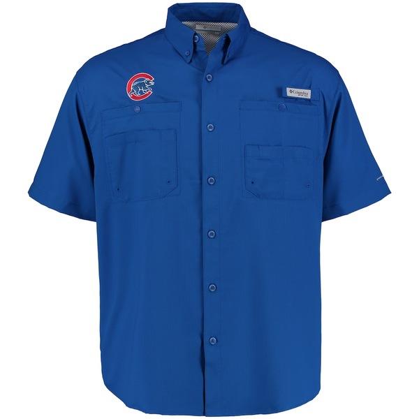 コロンビア メンズ シャツ トップス Chicago Cubs Columbia Tamiami Button-Down Shirt Royal