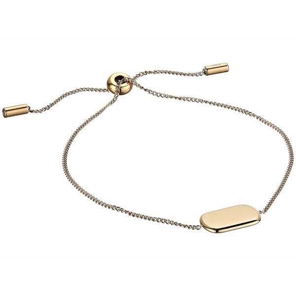 フォッシル レディース ブレスレット・バングル・アンクレット アクセサリー Gold Tone Stainless Steel Chain Bracelet Gold Tone