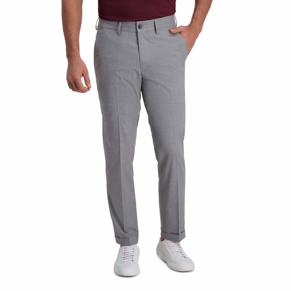 ケネスコール メンズ カジュアルパンツ ボトムス Heather Stripe Drawstring Slim Fit Flat Front Flex Waistband Dress Pants Grey:asty