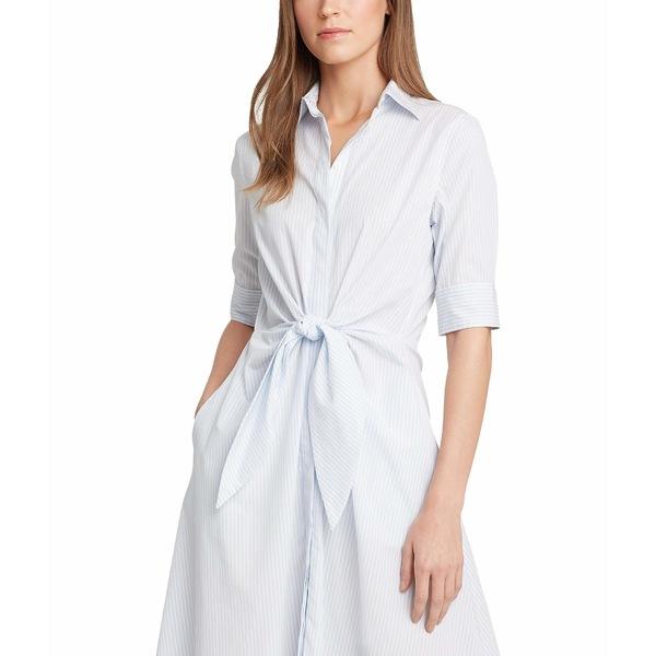 ラルフローレン レディース ワンピース トップス Striped Cotton Shirtdress Blue/White