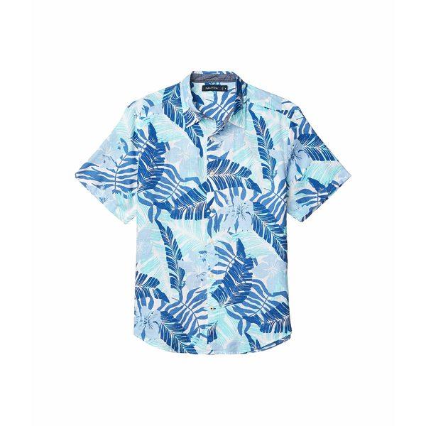 ナウティカ メンズ シャツ トップス Linen Print Woven Blue