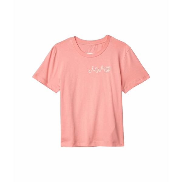 マルタンマルジェラ レディース シャツ トップス Embroidered Chest Logo Tee Rose