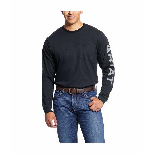 アリアト メンズ シャツ トップス FR Pocketed Logo T-Shirt Black