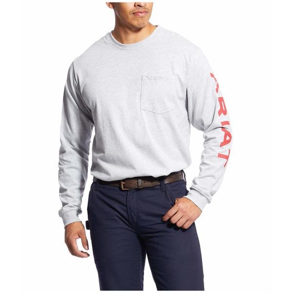 アリアト メンズ シャツ トップス FR Pocketed Logo T-Shirt Heather Grey