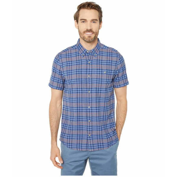 ドード アンドコー メンズ シャツ トップス Mattock II Short Sleeve Shirt Light Indigo Plaid