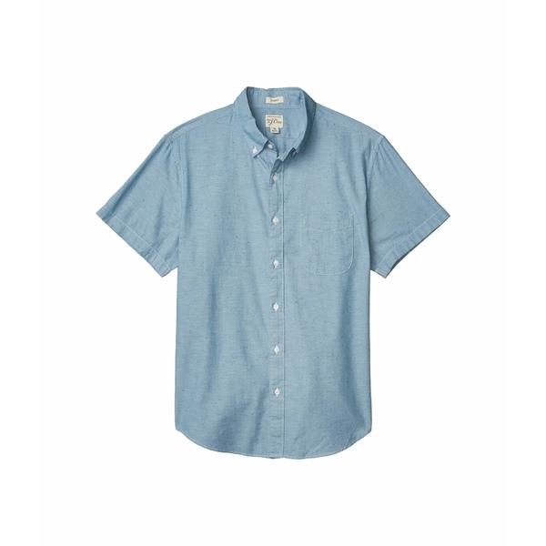 ジェイクルー メンズ シャツ トップス Short Sleeve Lightweight Chambray Button-Down Chambray Blue