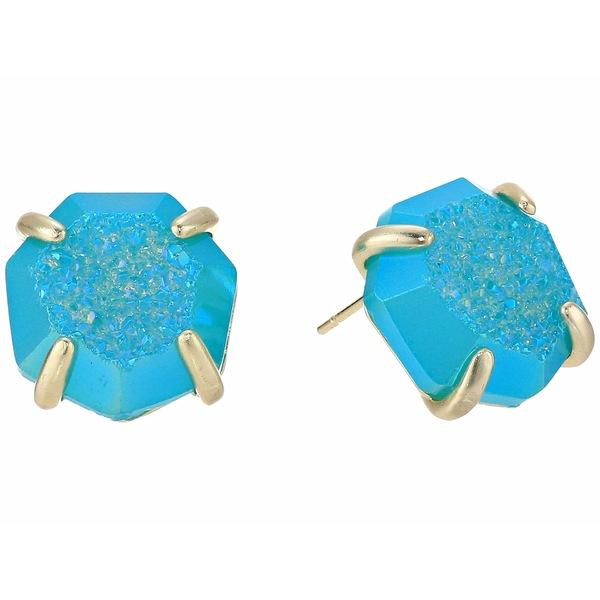 ケンドラスコット レディース ピアス&イヤリング アクセサリー Ryan Stud Earrings Gold/Bright Aqua Drusy