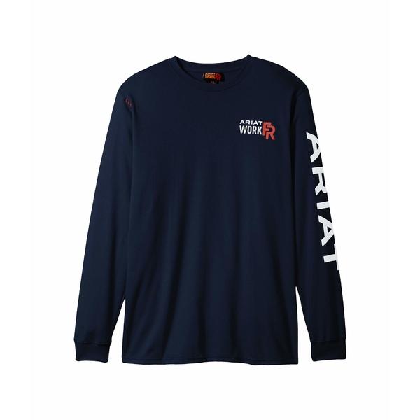 アリアト メンズ シャツ トップス FR Logo T-Shirt Navy